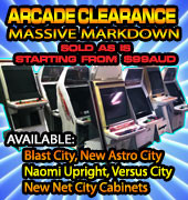 Massive Arcade Clearance  Sale - Machines Priced to Clear