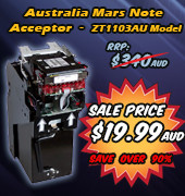 MARS Note Acceptor - OVER 90% OFF SALE