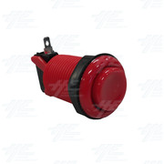 Arcade Push Button with Microswitch - Red